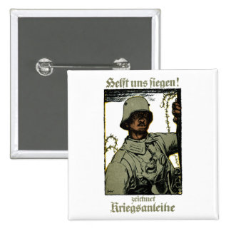 WWI German War Bond Poster 2 Inch Square Button