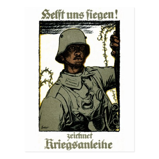 WWI German War Bond Poster Postcard