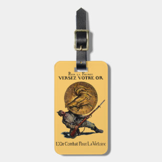 WWI Gold for French Victory Tag For Luggage