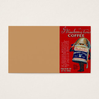 WWI Instant Coffee Ad Business Card