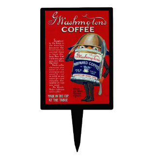 WWI Instant Coffee Ad Cake Topper