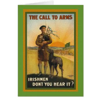 WWI Irish Recruiting Poster Card