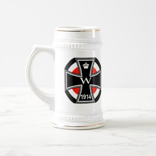 WWI Iron Cross Beer Stein