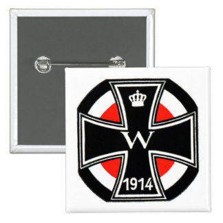 WWI Iron Cross 2 Inch Square Button