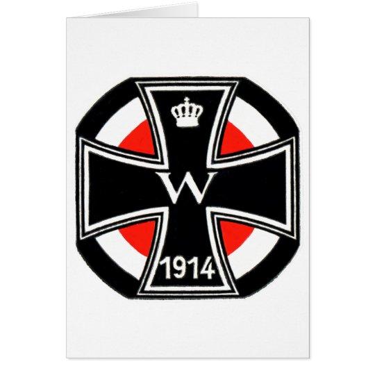 WWI Iron Cross Card