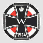 Wwi Iron Cross Classic Round Sticker at Zazzle