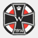 WWI Iron Cross Classic Round Sticker