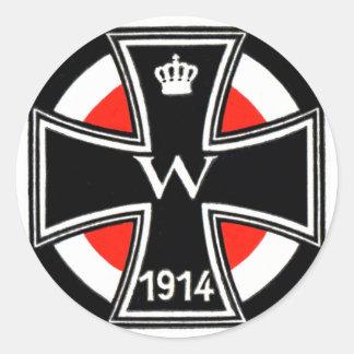 WWI Iron Cross Round Stickers