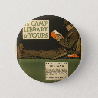 WWI Library Pinback Button