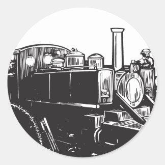 WWI Light Rail Locomotive Round Sticker