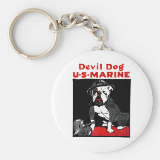 WWI Marine Corps Devil Dog Key Chain