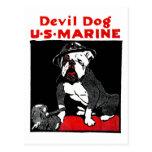 WWI Marine Corps Devil Dog Postcard