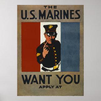 WWi Marine Poster