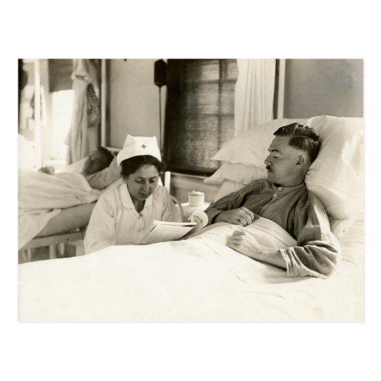 WWI Nurse and Soldier Postcard