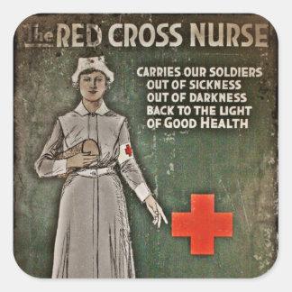WWI Nurse Fund Raising Images Square Sticker
