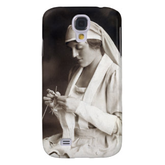 WWI Nurse knitting Sweater Galaxy S4 Cover