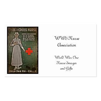 WWI Nurse Raising Funds Business Card