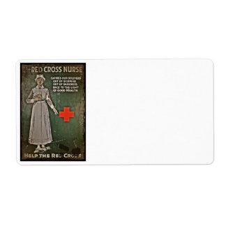 WWI Nurse Raising Funds Label