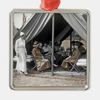 WWI Nurse Trainees Metal Ornament