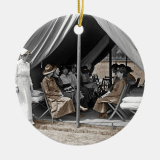WWI Nurse Trainees Double-Sided Ceramic Round Christmas Ornament