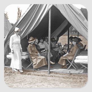 WWI Nurse Trainees Square Sticker