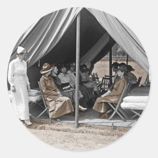 WWI Nurse Trainees Classic Round Sticker
