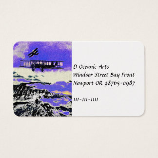 WWI Planes Practicing Attacks Business Card
