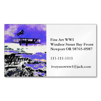 WWI Planes Practicing Attacks Business Card Magnet