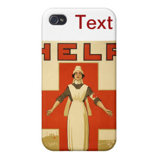 WWI Poster Red Cross Vintage Cases For iPhone 4