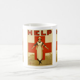 WWI Poster Red Cross Vintage Coffee Mug