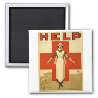 WWI Poster Red Cross Vintage Magnet