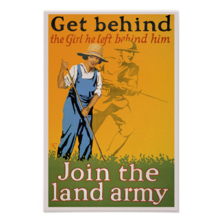 WWI Propaganda Poster - Get Behind the Girl...