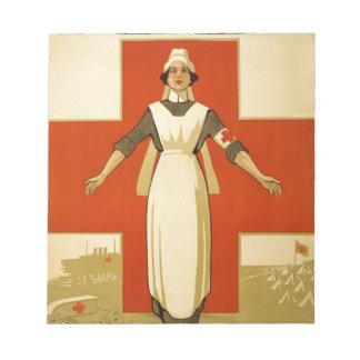 WWI Red Cross Nursen original poster Scratch Pad