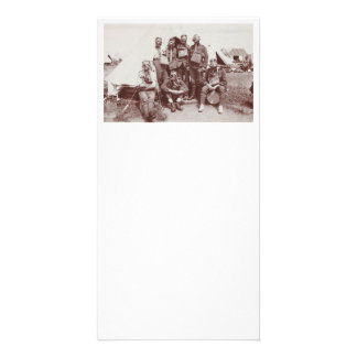 WWI Soldiers in Gas Masks Card