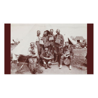WWI Soldiers in Gas Masks Double-Sided Standard Business Cards (Pack Of 100)