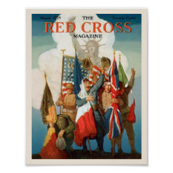 WWI Soldiers on Red Cross Magazine Posters