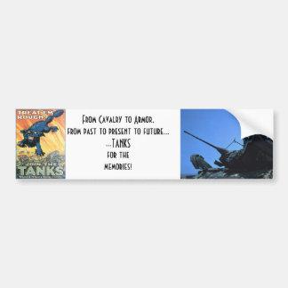 WWI: Únase a la línea de los tanques Pegatina Para Auto