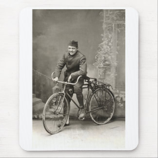 WWI US Doughboy and his Bike in France Mouse Pad