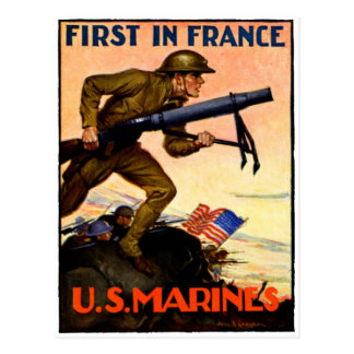 WWI US Marines Postcard