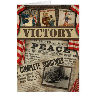 "WWI ""Victory"" Scrapbook Greeting Card"