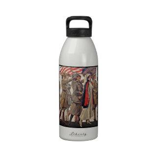 WWI Women Nursing Recruiters Water Bottles
