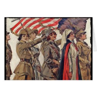 WWI Women Nursing Recruits Card