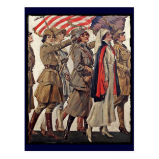 WWI Women Nursing Recruits Postcard