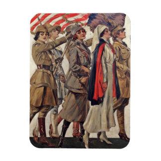 WWI Women Nursing Recruits Rectangular Photo Magnet
