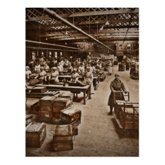 WWI Women Workers in Munitions Factory Postcard