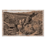 WWI World War I British Soldiers in Trench Print