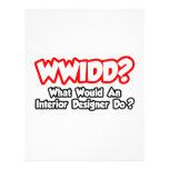 WWIDD...What Would an Interior Designer Do? Custom Letterhead