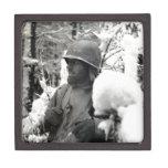 WWII 35th Infantry Division Soldier Premium Keepsake Box