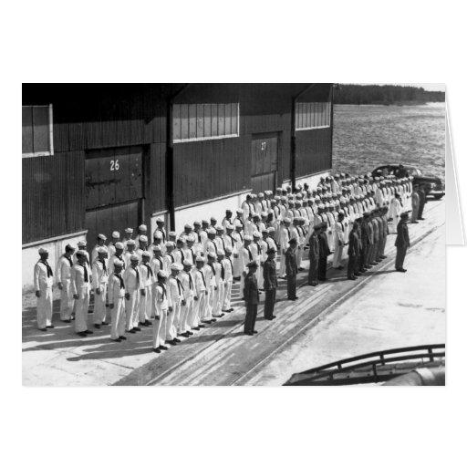 WWII: A bordo de USS Asheville (PF-1) Tarjeta De Felicitación