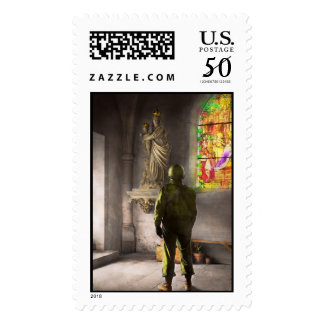 WWII - A prayer for Courage 1940 Postage